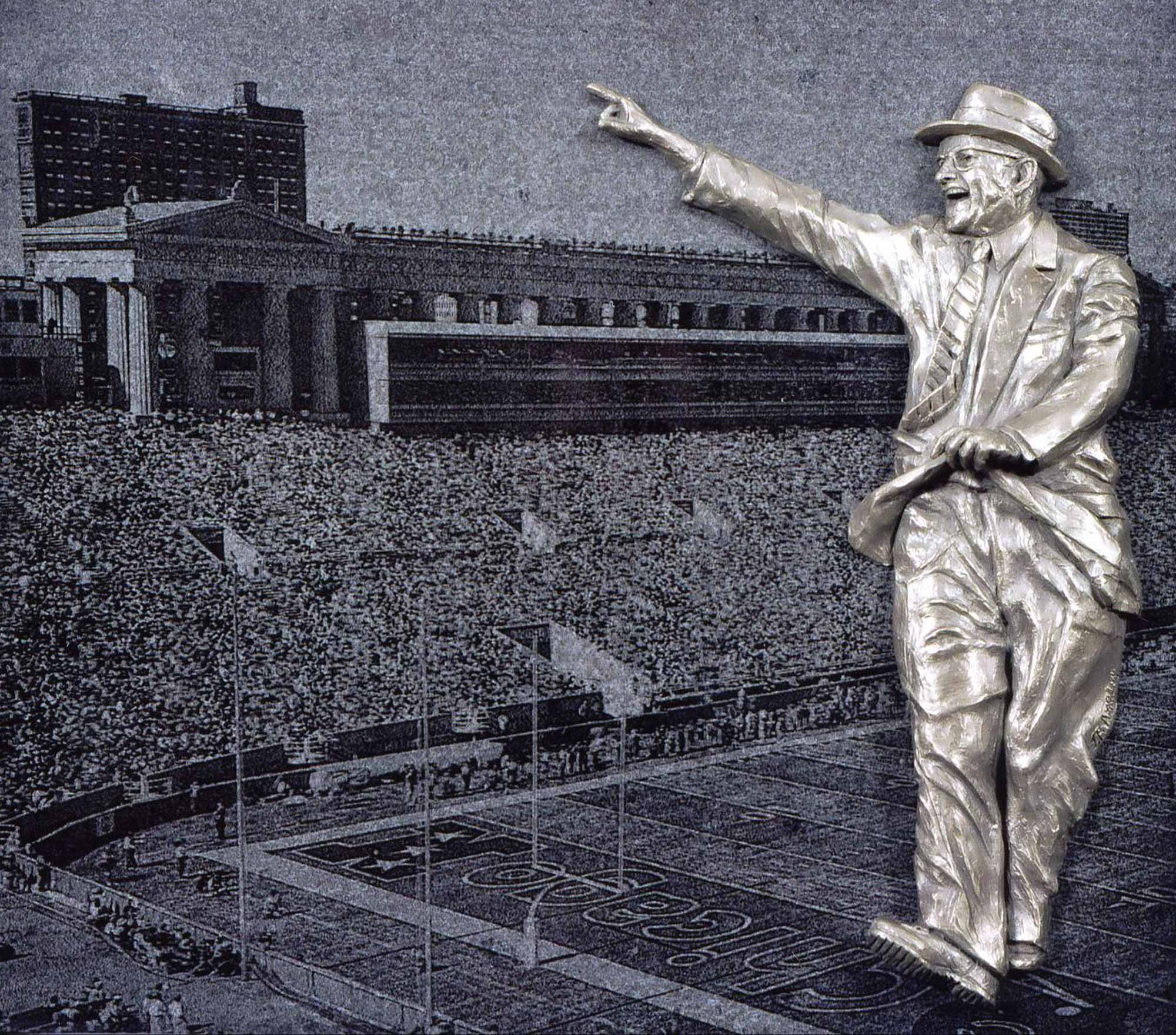 Tribute to George S. Halas -Sports Commission Sculpture