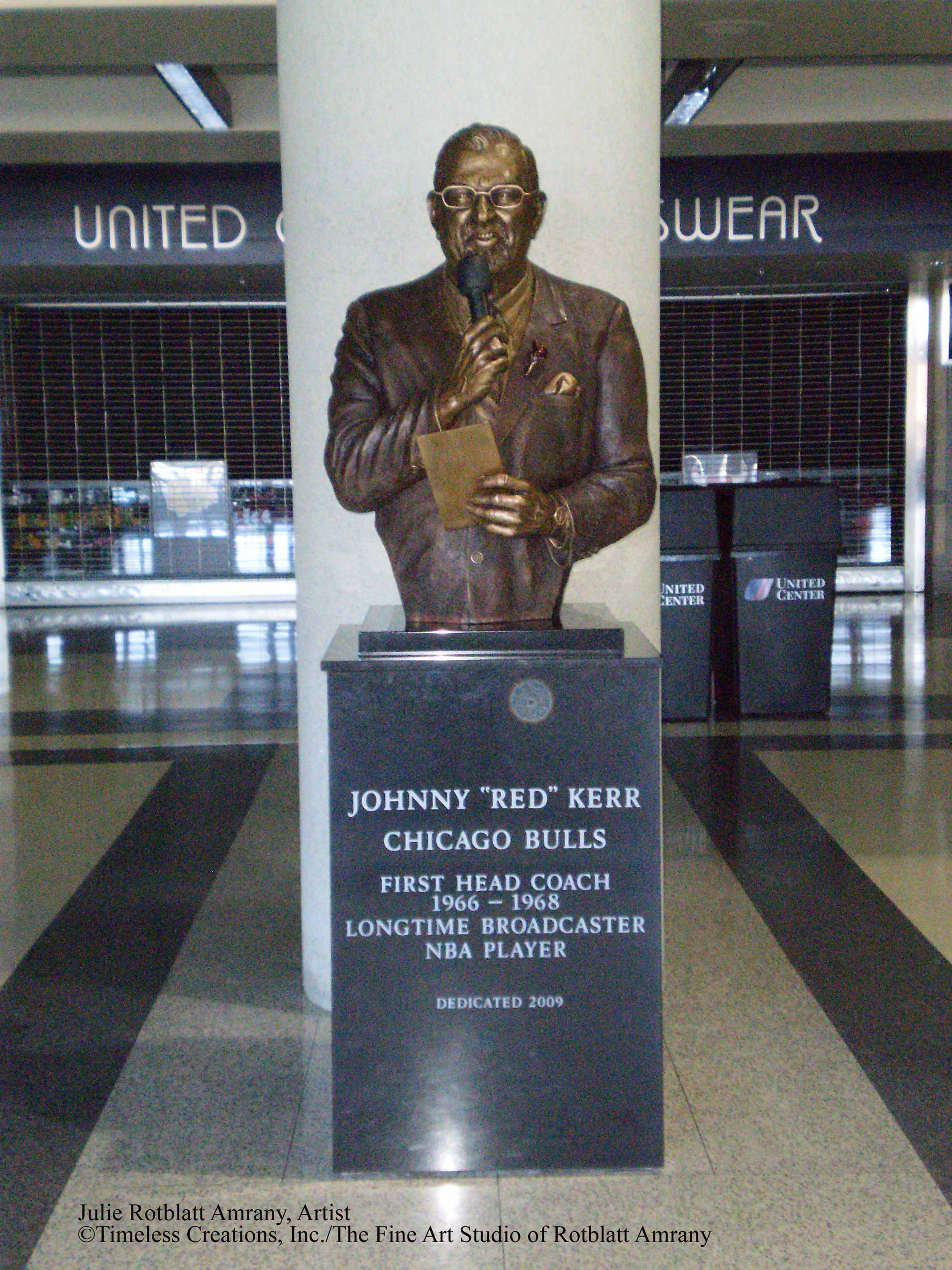 "Johnny ""Red"" Kerr Sports mission Bronze Statue"