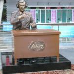 Thumbnail of Tribute to Chick Hearn – Sports Commission Bronze Statue