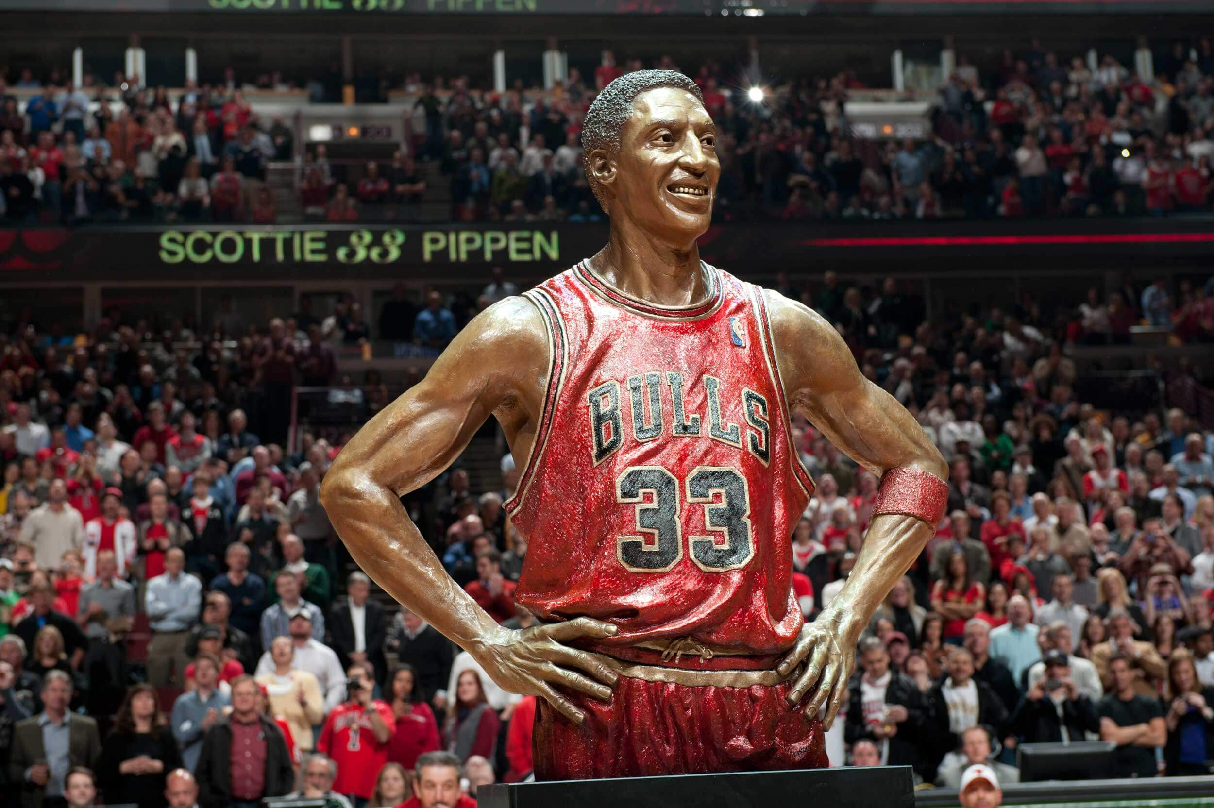 Scottie Pippen Sports mission Bronze Statue