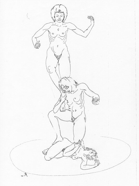 Sketch for the Peace Sculpture