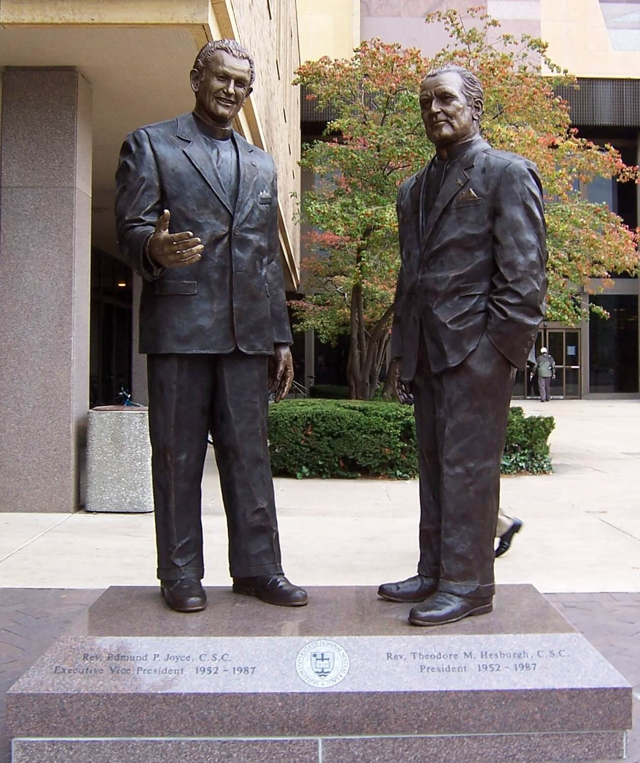 Father Hesburgh and Father Joyce