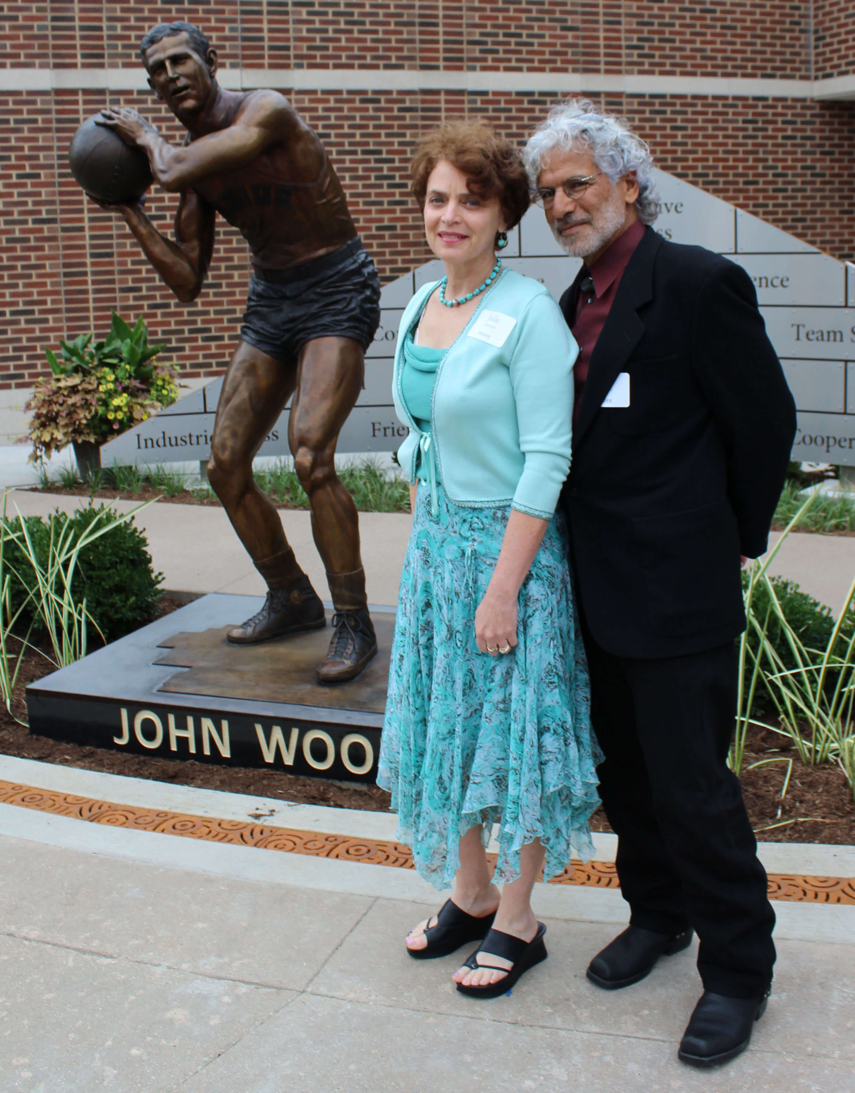 John Wooden-Sports Commission Bronze Statue