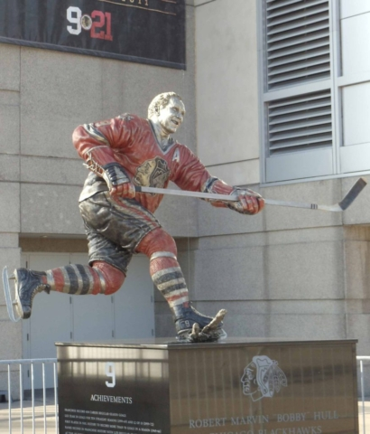 Bobby Hull, Blackhawks, Statue