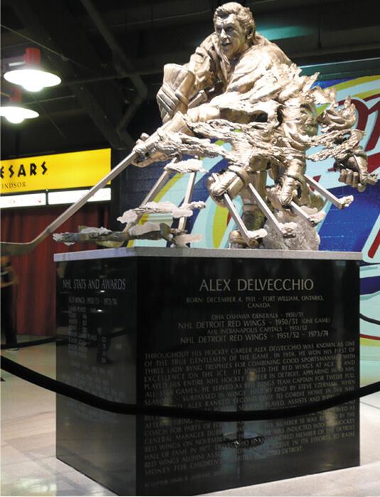 Alex Delvecchio statue, Detroit Red Wings