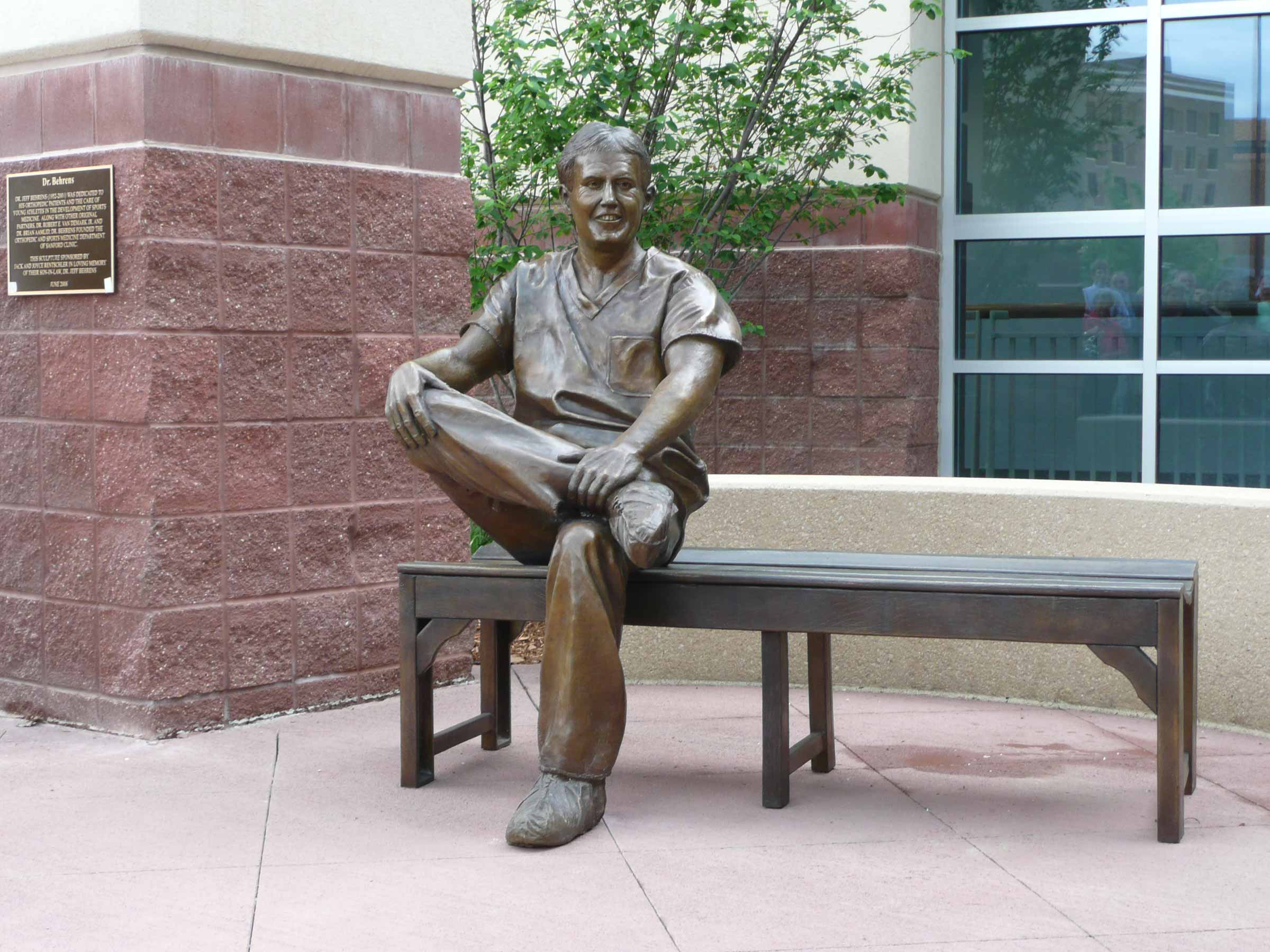 Hospital statue of Dr. Behrens