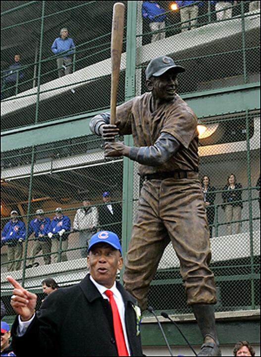 Ernie Banks statue, Mr. Cub, Wrigley Field