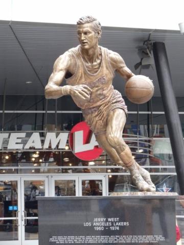 Jerry West statue, LA Lakers, Staples Center