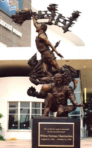 Wilt Chamberlain statue, Philadelphia 76ers, NBA