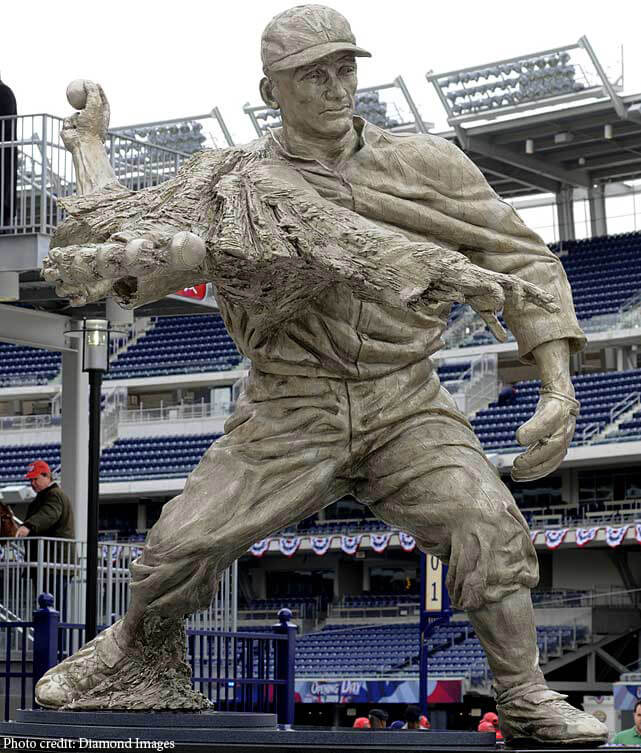 Walter Johnson, statue, Washington Nationals