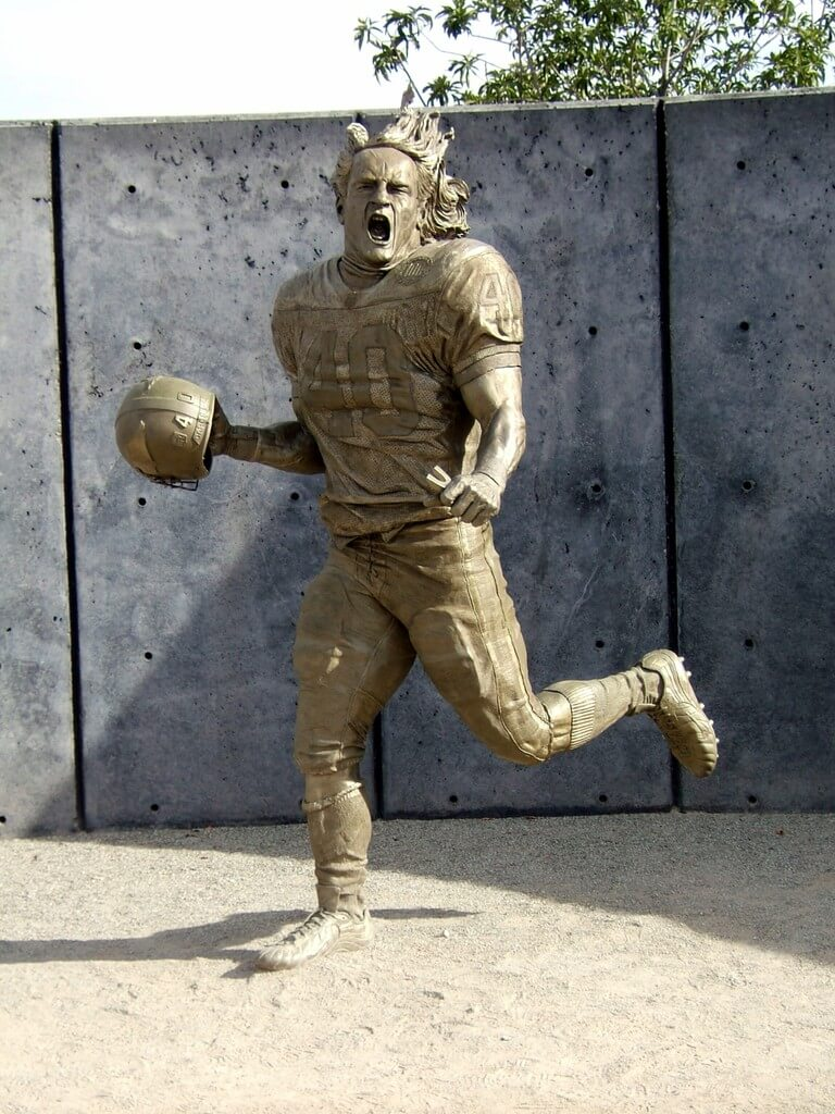Pat Tillman Sports Custom Statue Fine Art Studio Of