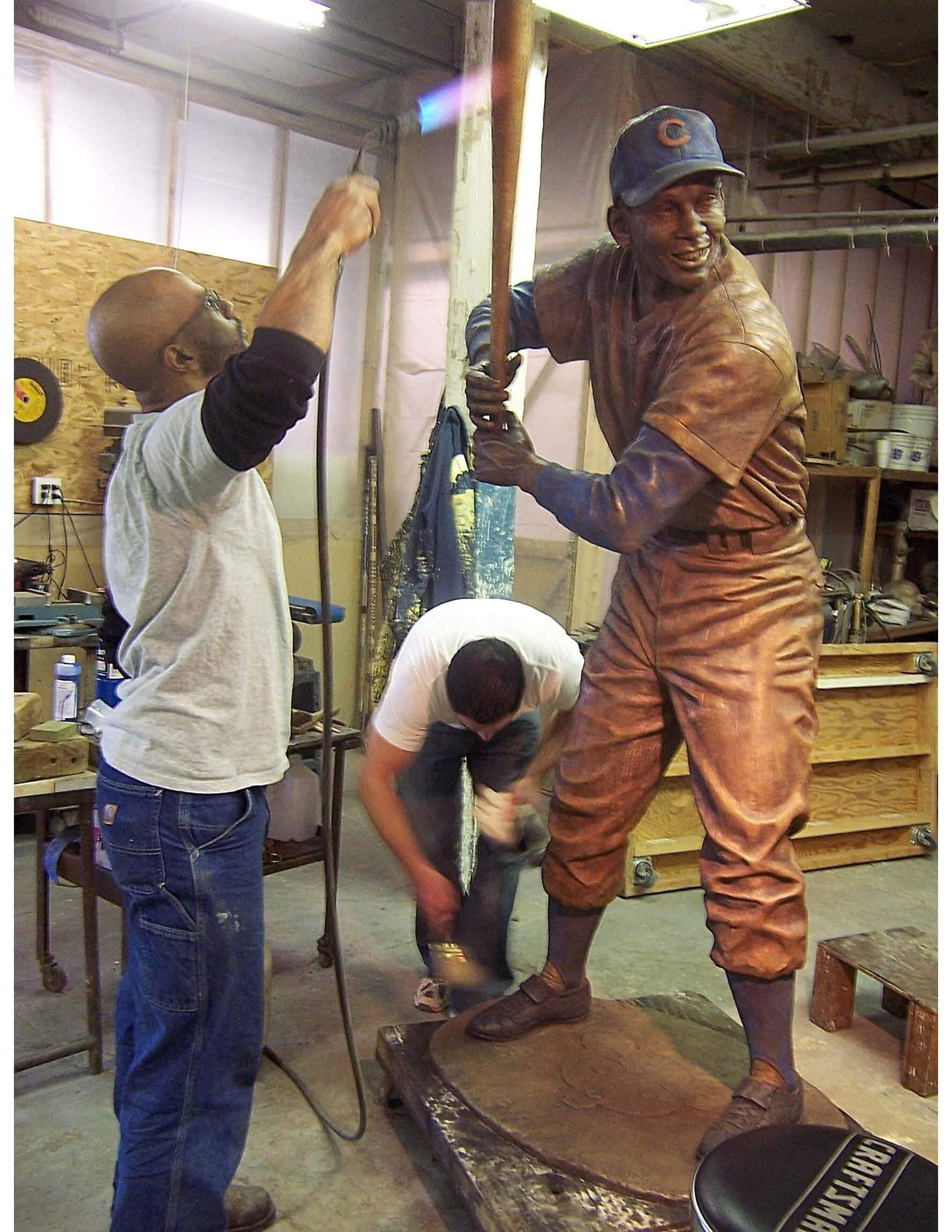 building a commissioned statue