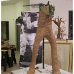 Ernie Banks sculpture creation