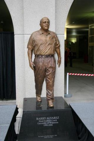 Barry Alvarez statue, University of Wisconsin