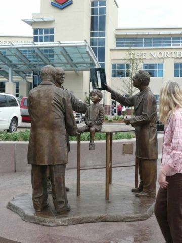Doctors and Child statue at hospital