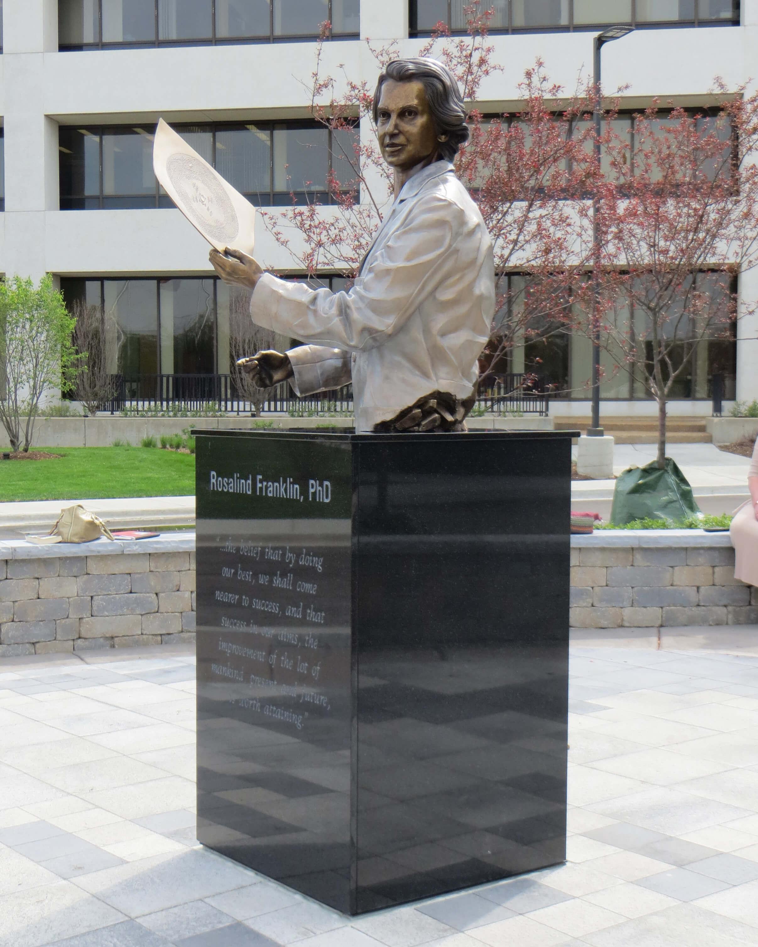 Rosalind Franklin statue at hospital