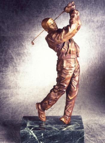 Eric Gleecher, golf, statue