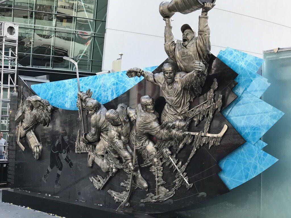 LA Kings, NHL, monument, Staples Center