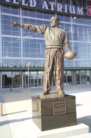 Curly Lambeau statue, Lambeau Field, Green Bay