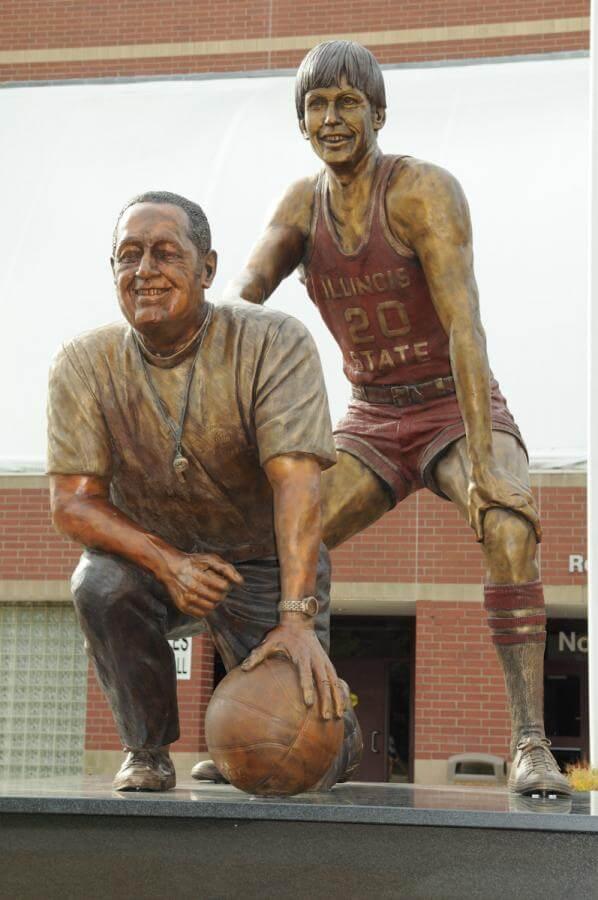 Will Robinson, Doug Collins, statue, Redbirds, Normal, Illinois State University