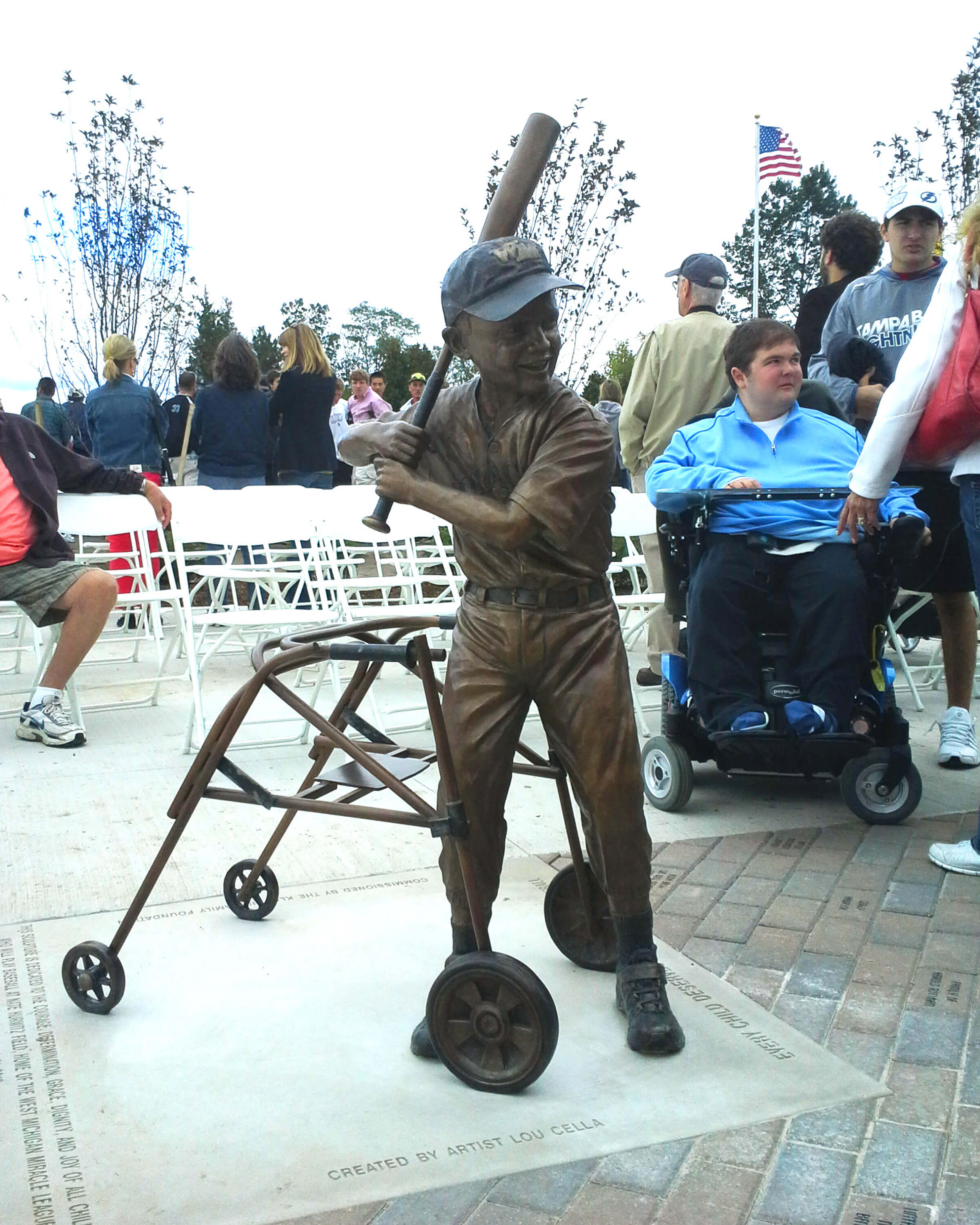 West Michigan Miracle League, statue, Grand Rapids