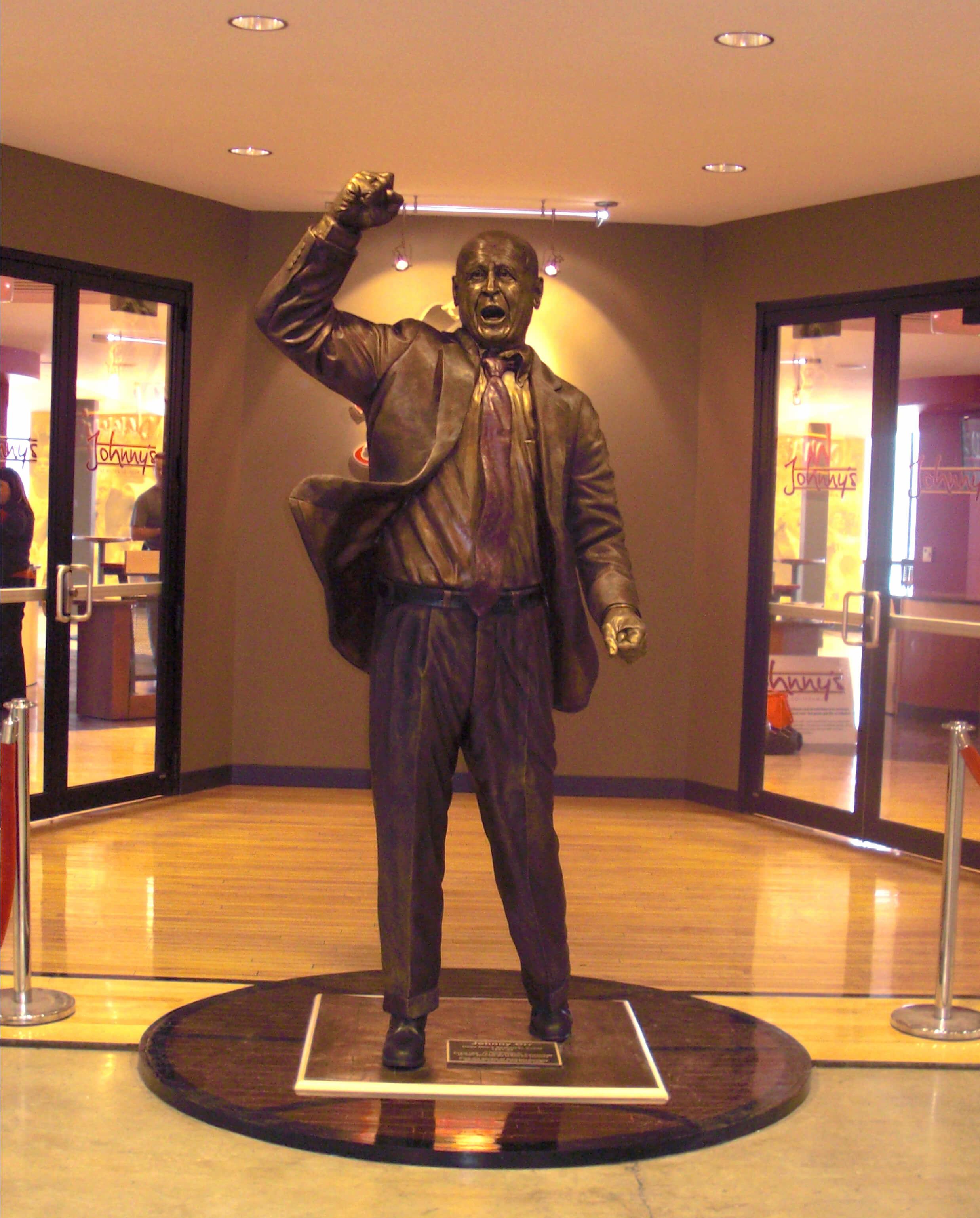 Johnny Orr statue, ISU, Ames, Iowa State