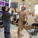 Julie sculpting